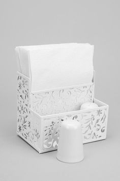 Floral Cutout Napkin Holder #urbanoutfitters