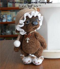 Софья вязаный мишка / Авторские и коллекционные игрушки / Шопик. Продать купить куклу / Бэйбики. Куклы фото. Одежда для кукол