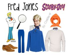 """Fred Jones - Scooby Doo"" by cosplay-er ❤ liked on Polyvore featuring The Kooples, Balmain, Passigatti and Office"