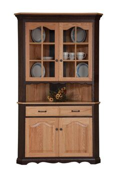 Amish Pine Wood Corner Cabinet Hutch  Pine Woods And Room Magnificent Corner Dining Room Hutch Inspiration Design