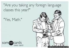 Are you taking any foreign language classes this year yes math