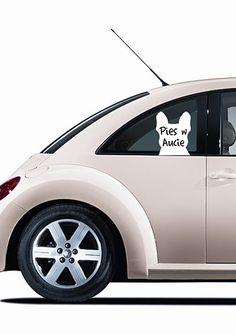 """Naklejka na szybę """"Pies w Aucie""""/ A window sticker """"Dog in the Car"""""""