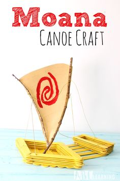 Disney Inspired Moana Animated Movie Canoe Popsicle Kids Craft A fun hands-on craft inspired by our favorite Disney Heroine! Moana Boat, Moana Birthday Party, Moana Party, Moana Crafts, Disney Crafts, Hawaii Crafts, Drama For Kids, Island Crafts, Digital Scrapbooking