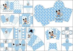 First Year of Mickey with Polka Dots: Free Printable boxes.