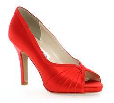 Modelo Erica en rojo valentino de enepe zapatos de novia http://www.enepe.com/erica.html