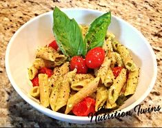 Avocado Pasta | Easy, Healthy & Delish! | Time is precious--this will be a staple in your house! | For MORE RECIPES like this please SIGN UP for our FREE NEWSLETTER www.NutritionTwins.com