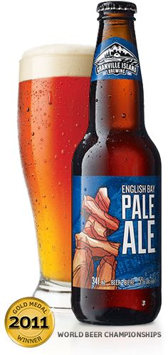 Granville Island Brewing   English Bay Pale Ale-Grill and serve. Caramel malt flavours pair up well with grilled meats. Perfect pairing: Tenderloin or beef burgers.
