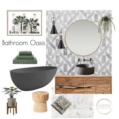 View this Interior Design Mood Board and more designs by JulesHurd on Style Sourcebook Home Design, Interior Design Presentation, Relaxing Bathroom, Bathroom Interior, Bathroom Inspo, Fireplace Accessories, Home Upgrades, Dream House Plans, Decoration