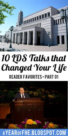 10 LDS Talks that Changed Your Life - Part 01 // A while back I shared a list of 8 LDS Talks that Changed My Life.  The response has been overwhelming! I asked for my readers to share the talks that had changed THEIR life and I am happily collecting these wonderful, inspiring, uplifting talks that have touched your hearts.   Here is the first installment of Reader Favorites. Please PIN and SHARE and spread  the inspiration!