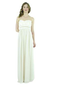 BCBG Paris Vestido strapless beige, Brielle