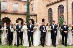 love these bridesmaids dresses, and groomsmen suits! Bridal Dresses, Bridesmaid Dresses, Bridesmaids, Two Birds Bridesmaid, Multi Way Dress, Infinity Dress, Wedding Images, Wedding Ideas, Real Weddings
