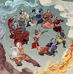 My entry for the Dark Horse Avatar coloring contest! This was lots of fun! Happy Avatar month, everyone! Avatar Aang, Avatar Airbender, Avatar Legend Of Aang, Team Avatar, Legend Of Korra, Avatar Disney, Zuko, The Last Airbender Cast, Narnia