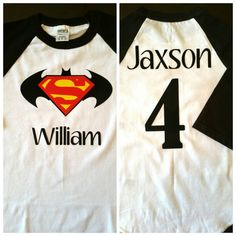 Batman and Superman Birthday Shirt Batman Superman by rikirenee