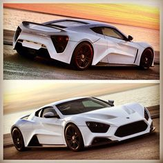 Zenvo ST1 in a glorious sunset