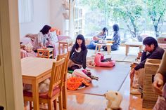 Cat cafe in Shibuya. Idea originally from Taiwan in 1998, Cat cafe is a theme cafe for late teens and adults who loves cats and it's great place for those who are stress from working life unless you're allergic. This idea became popular in Japan in 2002 and later become popular overseas from South Korea to Austria