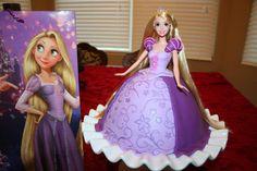 Shelly Baby's Custom Cakes!: Rapunzel Doll Cake & Cupcakes