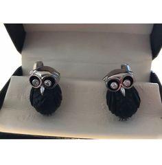 38f67ddc29aa Deakin   Francis Cufflinks 18kt White Gold Onyx Owls