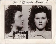 ~Elizabeth Short ~ Long before she was The Black Dahlia, she was arrested for underage drinking in Her mug shot would become one of the most famous photos of her. Santa Barbara, Black Dahlia, Hollywood Story, Old Hollywood, Celebrity Mugshots, Celebrity Photos, Famous Murders, Famous Photos, Iconic Photos