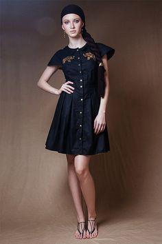 prom dress/ short sleeve dress/ summer dress/ black by Ecattus Casual Summer Dresses, Dress Summer, Desert Fashion, Summer Collection, Cotton Dresses, Dress Shirt, Dress Black, Elephant, Arm