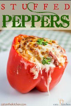 Stuffed Peppers   Catz in the Kitchen   catzinthekitchen.com #peppers