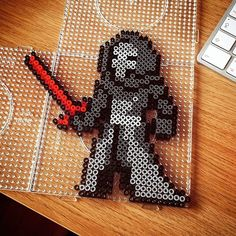 Kylo Ren - Star Wars VII perler beads by ludvig.hager