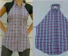 Apron from man's button down shirt