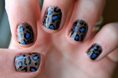 Find images and videos about nails and nail polish on We Heart It - the app to get lost in what you love. Get Nails, Fancy Nails, Love Nails, How To Do Nails, Pretty Nails, Hair And Nails, Leopard Print Nails, Leopard Prints, Manicure Y Pedicure