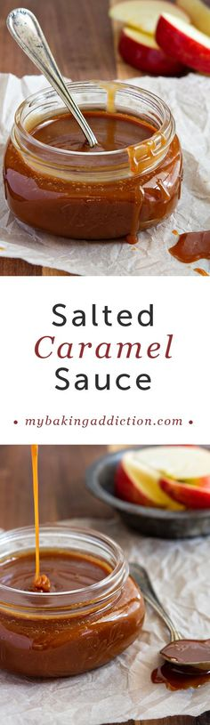 Homemade Salted Caramel Sauce from My Baking Addiction. Trust me, you'll want to eat it by the spoonful!