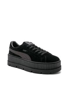 48f08a305 Fenty by Puma Suede Cleated Creepers in Puma Black
