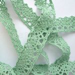 20mm Spearmint Cotton Lace - Ribbon Girl, great supplier