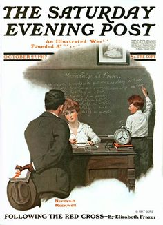 """""""After School"""" by Norman Rockwell October 27, 1917"""