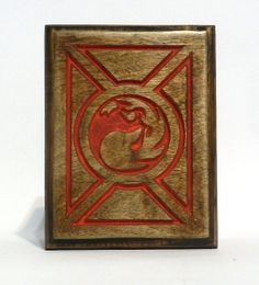 Red Mana Custom Wood MTG Deck Box Card Case for by FoxAndDragon, $64.95