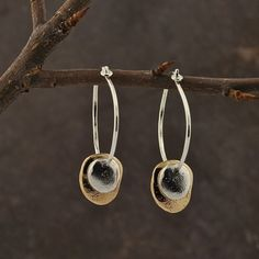 River Rocks on Silver Hoops by colbyjune on Etsy. $105.00 USD, via Etsy.