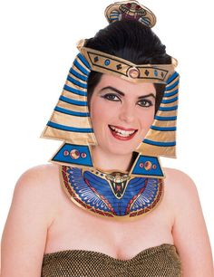 Cleopatra Costume Kit Egyptian Womens Halloween Headpiece Headband Queen Girls
