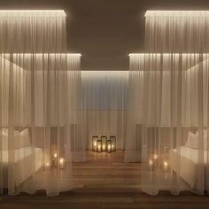 Yabu Pushelberg, The Miami Beach Edition, Spa Relaxation Room luxury boutique hotel Spa Design, Spa Interior Design, Salon Design, Design Ppt, Yoga Studio Design, Design Ideas, Studio Interior, Bath Design, Deco Spa
