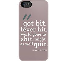 The Walking Dead: Daryl Dixon: Got Bit iPhone Case by quote-cases