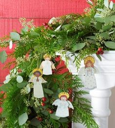 Mary Engelbreit's Paper Doll Angels Downloadable Patterns DIY Craft from our friends at Country Woman