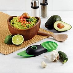 La Cucina 3in1 Avocado Slicer Green Plastic Slices Sharp Blade Fruit Pitter Smart Kitchen Gadget Kitchen Tool >>> Click on the image for additional details.