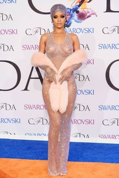 Rihanna Embraces the Nude Look at the CFDAs - okay I know this is excessively nude, but I do like her ensemble. It's Rihanna, you've gotta give it to her.