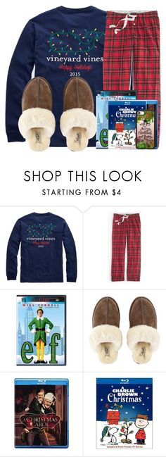 """""""Watching Christmas movies"""" by lindonhaley ❤ liked on Polyvore featuring J.Crew, UGG and Casetify"""