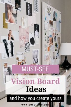 An essential tool to motivate yourself is to keep your goals in mind, and that wonderfully works with a vision board. It is a collection of words and images that motivate you, help you to believe in yourself and conjure up a smile on your face. I will give you ideas for your personal vision board and show you what you need to create it. #visionboardexamples #motivation #goalreminder #visionboardideasdiy #howtodoavisionboard #visionboardinspiration #makinavisionboard #goalboardideas #moodboard Digital Vision Board, Goal Board, Dreams And Visions, Creating A Vision Board, Need Motivation, Daily Goals, Motivate Yourself, The Conjuring, Law Of Attraction
