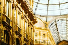 La galerie Vittorio Emmanuel de Milan #Milano #voyage #shopping #vittorio #emmanuel