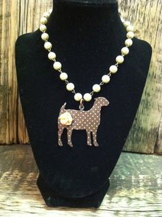 Custom Pattern Show Goat Necklace | Showring Silhouettes