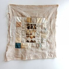Jude Hill, Heart's Path Stitched, 2016. Hand-stitched.