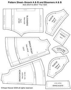 Printable Sewings Bjd Patterns