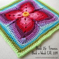 Eu que Fiz - Vovó Baisa: Quadrado de crochê - square lindo