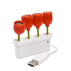 USB 4 Port Tulip Hub, $24