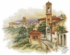 Town By The Sea - Cross Stitch Kits by RTO - M357