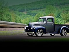 Knowing the 1947 Ford was a solid piece of steel to start with, Art decided he could turn this truck into something much more! Old Ford Pickups, Old Ford Trucks, Pickup Trucks, Dually Trucks, Custom Truck Parts, Custom Trucks, Classic Trucks Magazine, Old Fords, Heavy Truck