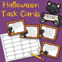 Here is a Halloween math freebie for you to enjoy! I have included two recording sheets. One so you can have your students complete all the cards and one for students who are completing only half of the cards.